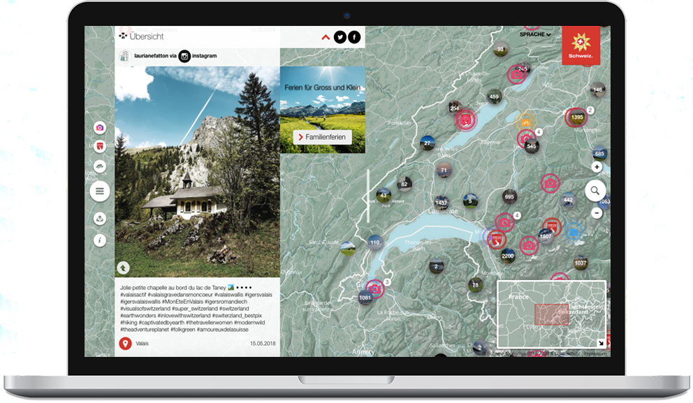 User Generated Content bei Schweiz Tourismus: Social Media Integration auf der Website in lovewithswitzerland.com