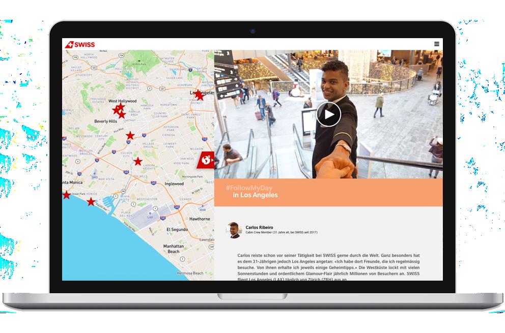Einbindung von Social Media auf der Website von followmyday.ch